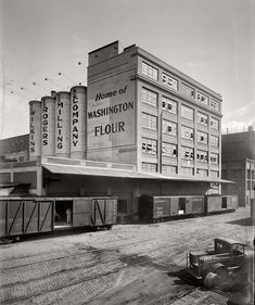 "Shorpy Historical Photo Archive :: Washington Flour: 1926 Washington, D.C., circa 1926. ""Wilkins-Rogers Milling Co., exterior, 3261 Water Street."" The Washington Flour mill on K Street, formerly Water Street, in Georgetown. The Washington Flour brand had a retail presence at least into the late 1960s"