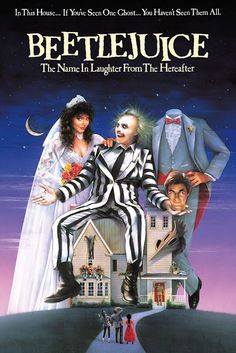 Beetlejuice a film by Tim Burton + MOVIES + Alec Baldwin + Geena Davis + Michael Keaton + Annie McEnroe + Maurice Page + Hugo Stanger + cinema + Comedy + Fantasy 90s Movies, Great Movies, Horror Movies, Movies To Watch, 80s Halloween Movies, Movies From The 90s, 80s Movie Costumes, Awesome Movies, Spooky Halloween