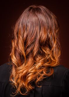Could this be reversed? My hair is the bottom color, would balayage lowlights of a deep red look good?