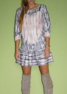 Kup mój przedmiot na #vintedpl http://www.vinted.pl/damska-odziez/krotkie-sukienki/10041881-modny-pikowany-komplet-funkcjonalna-bluza-i-spodnicza-hit-sezonu