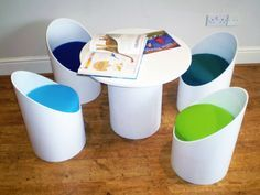 Eco Seatz Makes Colorful Chairs from Heavy-Duty Recycled Cardboard Tubes
