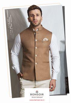 Mens Indian Wear, Mens Ethnic Wear, Indian Groom Wear, Indian Men Fashion, Mens Fashion Suits, Nehru Jacket For Men, Waistcoat Men, Nehru Jackets, Kurta Pajama Men
