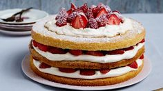 Candice Brown recipe: Triple-layer berry Victoria sponge - Scotsman Food and Drink Great British Bake Off, British Bake Off Winners, Victoria Sponge Kuchen, Candice Brown, Kitchenaid Artisan Stand Mixer, Strawberry Pavlova, Huge Cake, Brown Recipe, Layer Cake Recipes