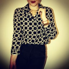 A silk blouse from Joe Fresh with silk   Forever 21 trousers.