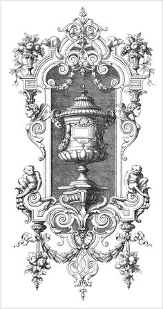 Ornament for furniture in the style of Rococo .. Discussion on LiveInternet - Russian Service Online Diaries