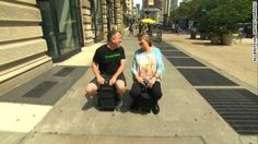 """Now you can ride your suitcase. CNN's <a href=""""http://www.cnn.com/profiles/jeanne-moos-profile"""">Jeanne Moos</a> took a test drive on a motorized suitcase."""