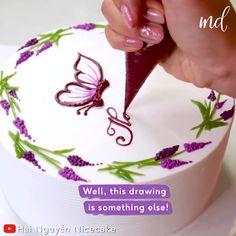 Cake Decorating For Beginners, Cake Decorating Designs, Creative Cake Decorating, Birthday Cake Decorating, Cake Decorating Techniques, Cake Decorating Tutorials, Creative Cakes, Cookie Decorating, Buttercream Cake Decorating