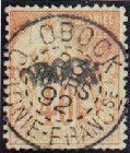 1892 Obock, 40c red/buff.