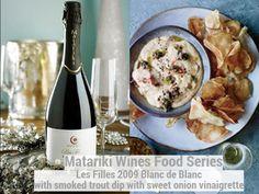 Smoked Trout Dip with Sweet Onion Vinaigrette with Matariki 2009 Les Filles Blanc de Blanc Smoked Trout Dip, Vinaigrette, Wine Recipes, Wines, Onion, Oatmeal, Breakfast, Sweet, Food