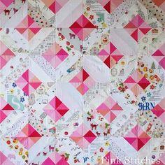 Pink Stitches: Parting Ways Quilt Block