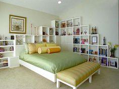 estante parede quarto