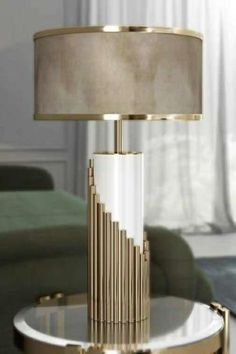 Small Desk Lamp, Night Table Lamps, Desk In Living Room, Semi Flush Ceiling Lights, Gold Table, Modern Lighting, Luxury Lighting, Modern Lamps, Desk Light