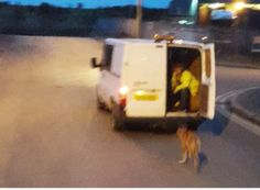 A helpless and exhausted dog was dragged by his leash behind a moving van for several laps of an industrial estate. Urge authorities to take urgent action to find this dog and its owners, to ensure the dog is safe, and ensure the people responsible for this abuse are severely punished.