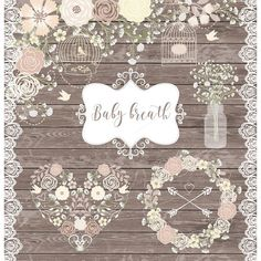 30SALE Vector Baby Breath Clipart Babies WeddingDiy ShowerRustic