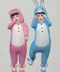 Imadako toddler animal night wear for The Sims 4