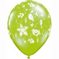 Smilin' Sea Creatures Jewel Latex Balloons