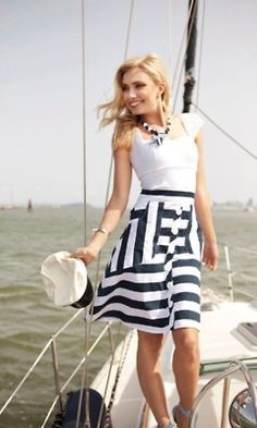 something about this dress. Well I do love all things nautical! Fashion and sailing are exceptional combos!