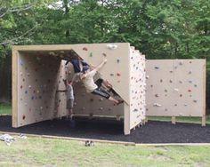 Backyard playground design climbing wall 52 Ideas , Back Backyard Gym, Backyard Obstacle Course, Backyard Playground, Backyard For Kids, Backyard Projects, Backyard Movie, Home Climbing Wall, Kids Climbing, Bouldering Wall
