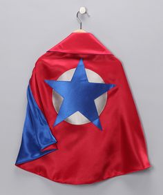 Take a look at this Red & Blue Soaring Star Two-Ply Hero Cape on zulily today!