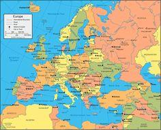 Πολιτικός χάρτης Ευρώπης