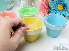 Easter Treat Cups - Jello Shot Cups used as liners