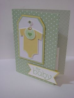Stampin' Up! Something for Baby, Stampin' Studio: Project Gift Card Holders Baby Boy Cards, New Baby Cards, Baby Shower Cards, Card Kit, Card Tags, Baby Shower Invitaciones, Congratulations Baby, Paper Cards, Kids Cards