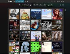 I really like Imgur's color choice. The green and the black compliment each other and help direct the user's attention to the gallery of photos. I wouldn't exactly chose the black and green theme, but I would chose colors that do one of three things like Imgur does: complimenting colors, colors that don't deter the reader from the rest of the site, and that works well with the background colors.