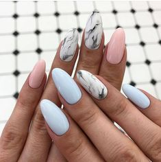 Here we have collected some Wonderful Ideas of Nail Art for those girls and ladies who want to change the Manicure style in these days. Because stylish girls and ladies want to get the more attractive look when they going to any special event or festival. Nail Manicure, My Nails, Nail Polish, Water Nails, Marble Nail Designs, Nail Art Images, Best Acrylic Nails, Dream Nails, Nagel Gel