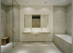 Swedish lake house - Designed by John Robert Nilsson Luxury-Bathroom-Modern-Swedish-Dream-House Large Bathroom Mirrors, Large Bathrooms, Amazing Bathrooms, Master Bathroom, Minimal Bathroom, Bathroom Modern, White Bathroom, Small Bathroom, Serene Bathroom