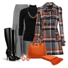 """""""Plaid Fall"""" by dixiendottie ❤ liked on Polyvore featuring Phase Eight, Brunello Cucinelli, Kate Spade, YUMI', Kenneth Jay Lane and Ralph Lauren Collection"""