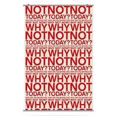 Why Not Canvas Wall Art