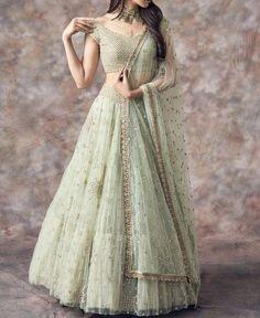 Party Wear Indian Dresses, Designer Party Wear Dresses, Party Wear Lehenga, Indian Gowns Dresses, Indian Bridal Outfits, Dress Indian Style, Indian Fashion Dresses, Indian Designer Outfits, Dress Party