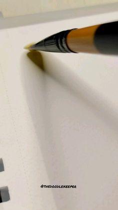 Gouache Painting, Diy Painting, Watercolor Paintings, Painting Tutorials, Pencil Art Drawings, Art Sketches, Handwriting Examples, Brush Pen Art, Doodle Art Designs