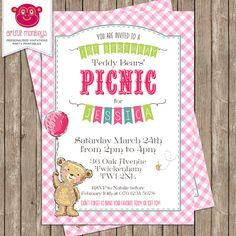 Teddy Bears' Picnic Invitation - DIY Printable