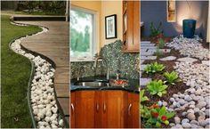 17 ciekawych pomysłów na wykorzystanie kamieni w domu i ogrodzie. Przyciąga wzrok!