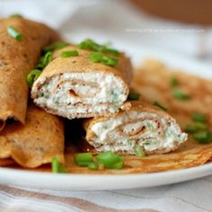 Tomato & basil whole wheat crepes with cottage cheese spicy filling. Super healthy and delicious!