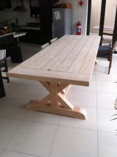 14 Seater Douglas Fir Provence Table. 318Kg's !