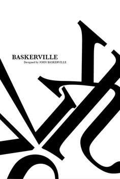 Typographic Poster - Baskerville on Behance by Kat Zyskowska