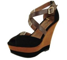 Perfect Winter Wedges!! Open toe strappy wedge!