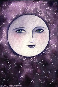 man in the moon...I think this looks more like ..lady in the moon...