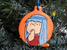 LINUS Shepherd Pageant Nativity Play Charlie Brown PEANUTS Christmas Ornament | eBay