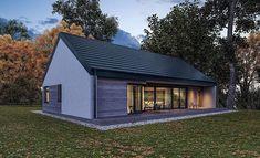Projekt domu Murator C365h Przejrzysty - wariant VIII 91,6 m2 - koszt budowy 239 tys. zł - EXTRADOM Home Fashion, Building A House, Shed, Outdoor Structures, Cabin, House Styles, Outdoor Decor, Home Decor, Luxury Dream Homes
