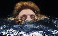 Disorienting Underwater Portraits by Tim Tadder