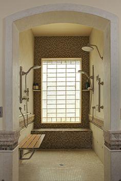 ADA shower; wheelchair accessible.  Rhonda Chen Interior Design Details - Greater Los Angeles, California - Interior Design, Design Management