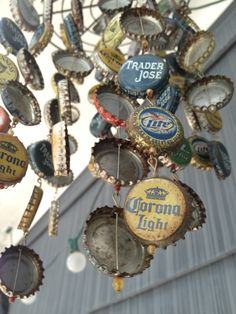 Love the rust! I made this bottle cap wind chime about a year ago and it now has the rusty quality that gives it charm ;)