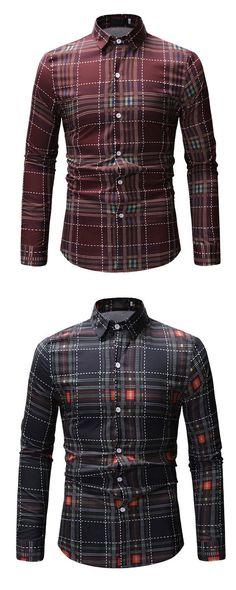 Plaid Lapel Print Men's Shirt Uganda, Men's Style, Motorcycle Jacket, Gentleman, Handsome, Plaid, Mens Fashion, Jackets, Shirts