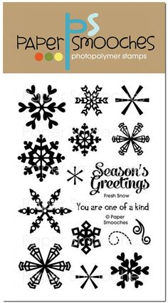 Snowflakes: Paper Smooches stamps