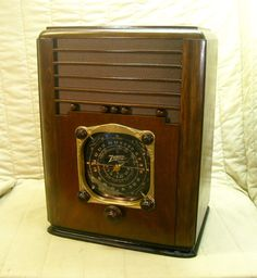 Old Antique Wood Zenith Vintage Tube Radio Restored Working w Black Dial   eBay