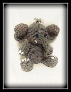 Crocheted elephant- amigurumi-  On etsy @ memawscountrycrafts