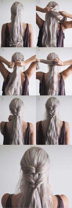 Peinado fácil estilo Khaleesi - kokay.me - Khaleesi Inspired Twist  Tutorial ~sigueme como KAROL BA3